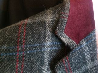 Detail of Cuff, Wool Mohair Jacket Cuff