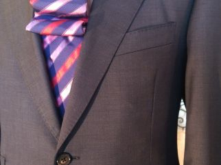 A detail of classic suit
