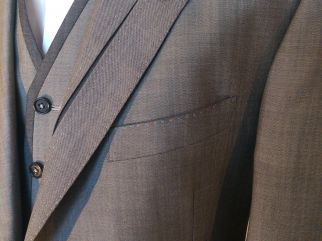 A Collar, lapel and Waistcoat detail