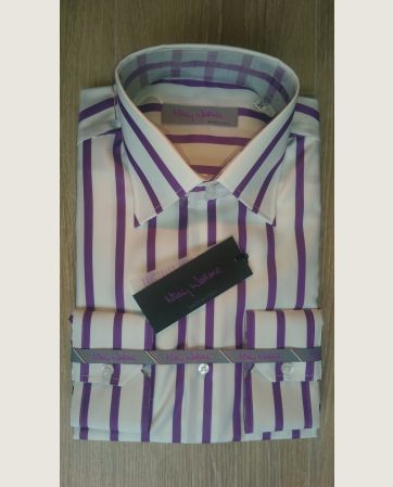 Mod.543 White, purple stripe
